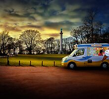 Ice cream van at Ashridge monument by hobgoblin