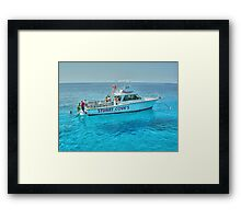 Diving Offshore of New Providence Island in The Bahamas Framed Print