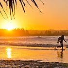 Surfing at The Pass - Byron Bay by Cheryl Styles