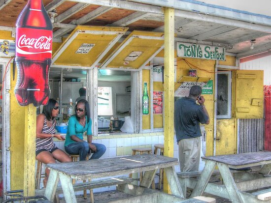 Daily Life and Lunch Time at Potter's Cay in Nassau, The Bahamas by 242Digital