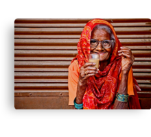 A Lady and her Chai Canvas Print