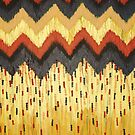SHINE ON - Gold Glam Chevron Colorful Abstract Acrylic Pattern Painting Modern Home Decor Fine Art by EbiEmporium
