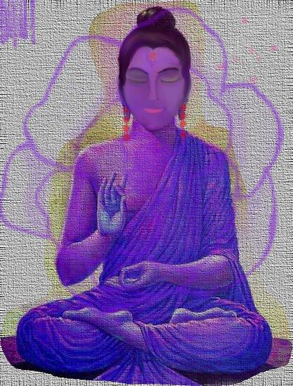 THE MIDEASTERN INDIAN WOMAN IN MEDITATION by Sherri     Nicholas