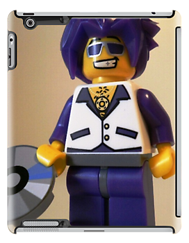 DJ Clubbing Tru Son of Disco Stu LEGO® Custom Minifigure with CD, by 'Customize My Minifig' by Chillee