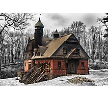 Abandoned barn, horse stable. Photographic Print