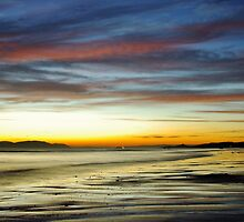 Seamill Beach at Sunset by TylieDuff