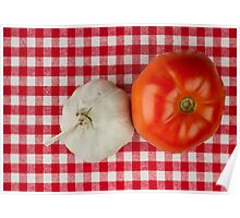Garlic and Tomato Poster