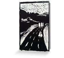 On route - on the road (highway) Greeting Card