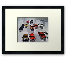 Rainy parking Framed Print