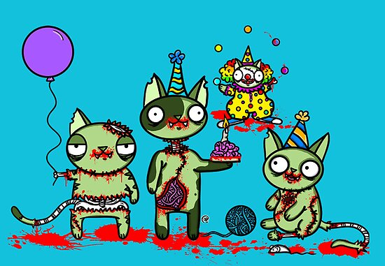 Zombies know how to party by jrock1184