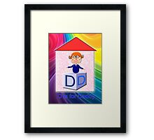 D is for Daddy Play Brick Framed Print