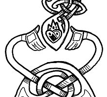 Claddagh Design - B&W by Mer Nolan