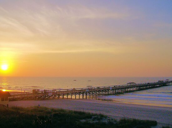 Amazing Morning At The Pier by ©Dawne M. Dunton