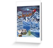 Wilderness Christmas Santa Greeting Card