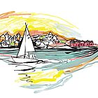Sailing from Donsö harbor - color by Rebecca Landmér