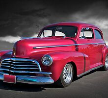 1946 Chevy Sedan on B/W by DaveKoontz
