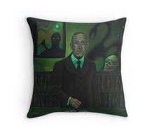HP Lovecraft Portrait Throw Pillow