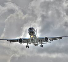 American Airline landing at Fort Lauderdale in Florida by 242Digital