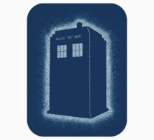 Dotty Tardis - Blue Sticker by geeksweetie