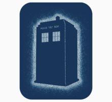 Dotty Tardis - Blue Sticker by geeksweetie