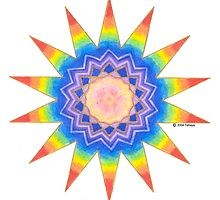 Rainbow Heart Star by Tehaya