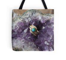 Black Opal in Amethyst Tote Bag