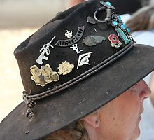 Aussie Hat & Badges by aussiebushstick