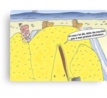 Caricature de la vengeance de Big Bird Canvas Print