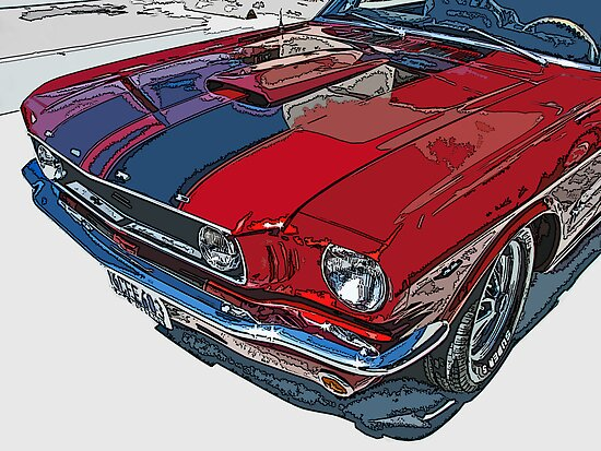 Classic Ford Mustang Nose Study by Samuel Sheats