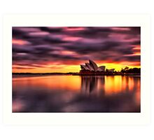 Opera House Sunrise Art Print