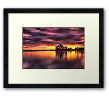 Opera House Sunrise Framed Print