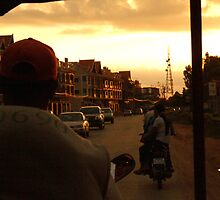 Sunset travel, Cambodia by Hannah Nicholas