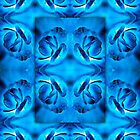 Blue Begonia Layered Reflection-iPad by onyonet photo studios