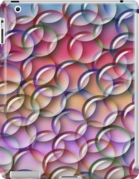 Rainbow Bubbles .. iPad case by LoneAngel
