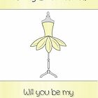 Best Friend Will You Be My Bridesmaid with Mannequin & Petal Dress by Catherine Roberts