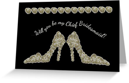Will You Be My Chief Bridesmaid White Rose Handbag & Shoe Design by Catherine Roberts