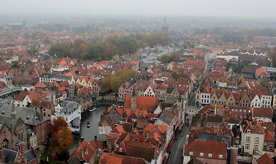 Bruges - View from the Belfry 4 by rsangsterkelly