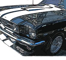 Black 1965 Ford Mustang GT by Samuel Sheats
