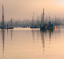 Tall Mast at Sunrise by Darren Burroughs