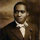 Black Man with Bow Tie by Vintaged