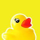 Rubber Ducky [Print | iPhone / iPad / iPod Case & Tshirt] by Damienne Bingham