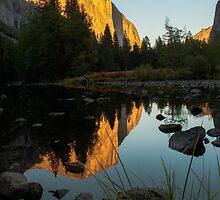 El Capitan at sunset by Gary Lange