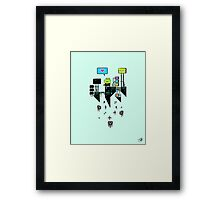 Kikkerstein - Statistical Pixel Genius Framed Print