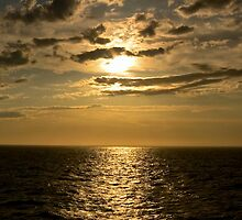 Sunset by the Ocean by Diana Beato