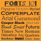 Fonts 101 by DetourShirts