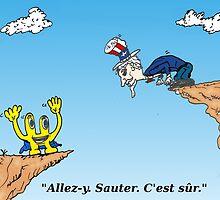 Euroman et l'Oncle Sam en caricature de l'économie by Binary-Options