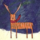 Warm Winter Deer by Cat Bruce