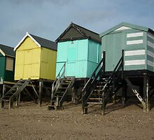 Colourful Beach Huts by MyPixx