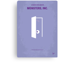 No161 My Monster Inc minimal movie poster Canvas Print