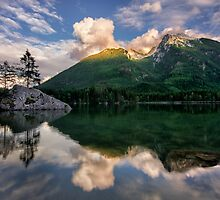 Sunset on Alpine Lake by Mylan Dawson